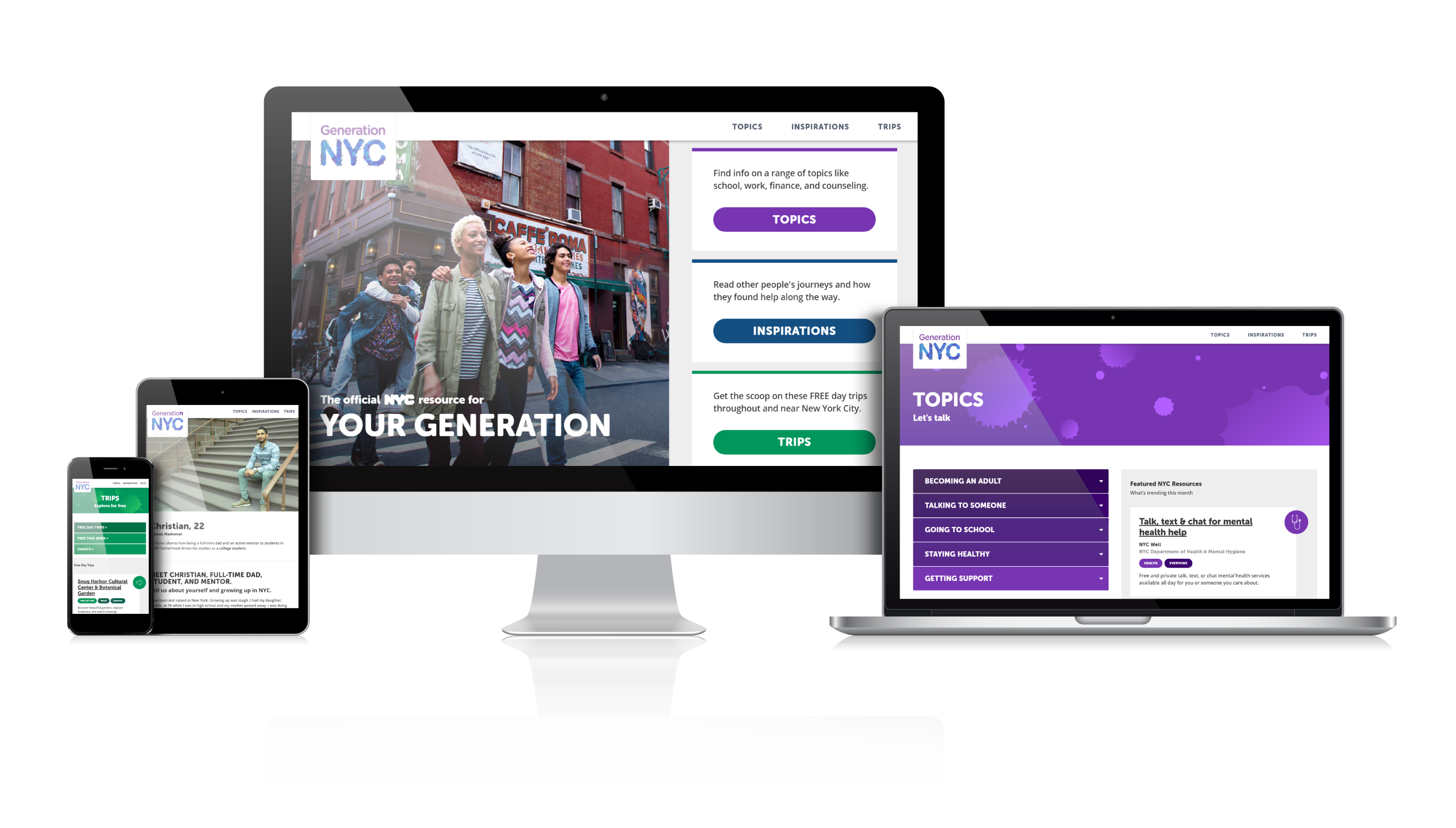 Generation NYC homepage